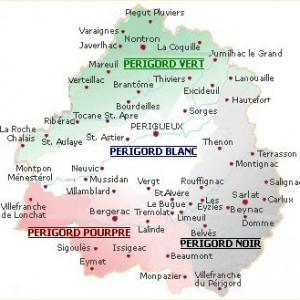 Carte du Périgord